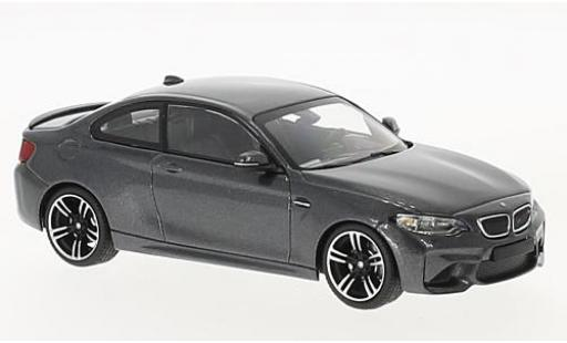 Bmw M2 1/43 Minichamps (F87) metallise grey 2016 diecast model cars
