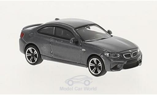 Bmw M2 1/87 Minichamps metallise grey 2016 diecast model cars
