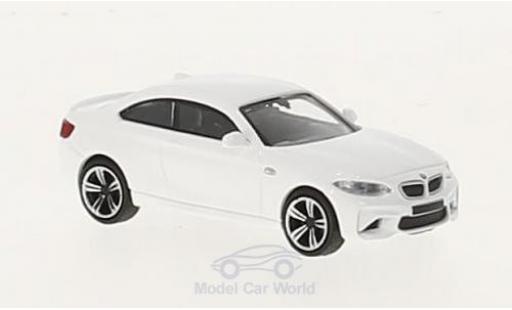 Bmw M2 1/87 Minichamps white 2016 diecast model cars