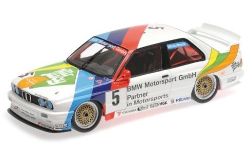 Bmw M3 1/18 Minichamps (E30) No.5 M-Team Schnitzer Mr. Juicy Macau Guia Race 1990 J.Winkelhock miniature