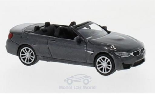 Bmw M4 1/87 Minichamps Cabriolet metallise grey 2015 diecast model cars