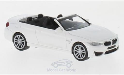 Bmw M4 1/87 Minichamps Cabriolet blanche 2015 miniature