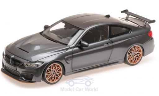 Bmw M4 1/18 Minichamps GTS metallise grey 2016 diecast model cars