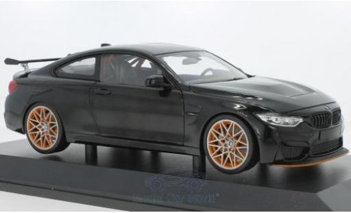Bmw M4 1/18 Minichamps GTS metallise black 2016 diecast model cars