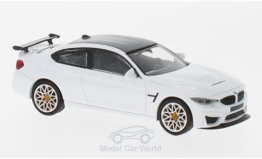 Bmw M4 1/87 Minichamps BMW GTS blanche 2016 mit orangen Felgen miniature
