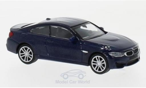 Bmw M4 1/87 Minichamps metallise bleue 2015 miniature