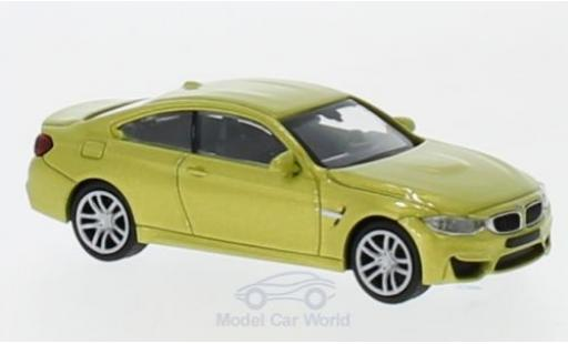 Bmw M4 1/87 Minichamps metallise yellow 2015 diecast model cars