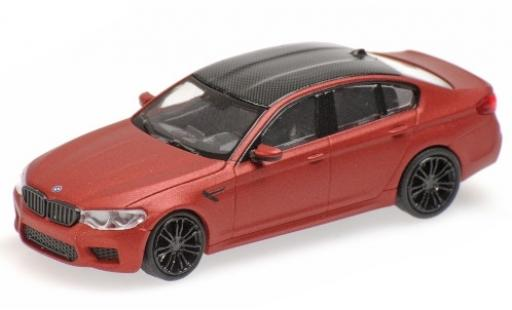 Bmw M5 1/87 Minichamps (F90) matt-red/carbon 2018 diecast model cars