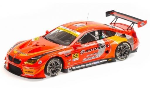Bmw M6 1/18 Minichamps GT3 (F13) No.55 Autobacs Racing Team Aguri Autobacs Super GT 2016 S.Takagi/T.Kobayashi diecast model cars