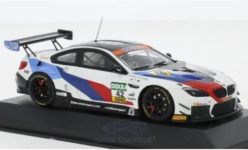 Bmw M6 1/43 Minichamps GT3 No.42 Schnitzer Motorsport ADAC GT Masters 2018 M.Jensen/T.Scheider diecast model cars