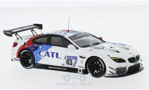 Bmw M6 1/43 Minichamps BMW GT3 No.43 BMW Team Schnitzer CATL 24h Nürburgring 2017 A.Farfus/A.Lynn/A.Felix Da Costa/T.Schneider diecast