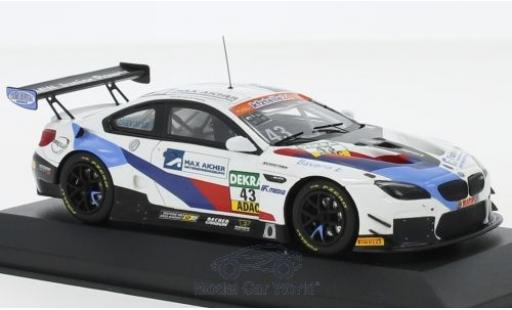 Bmw M6 1/43 Minichamps GT3 No.43 Schnitzer Motorsport ADAC GT Masters 2018 D.Marschall/V.Bouveng diecast model cars