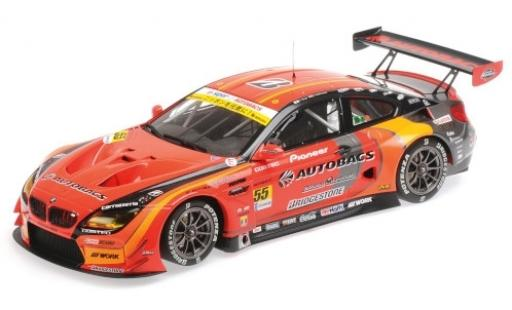 Bmw M6 1/18 Minichamps GT3 No.55 Autobacs Racing Team Aguri Super GT300 2017 S.Takagi/S.Walkinshaw modellautos