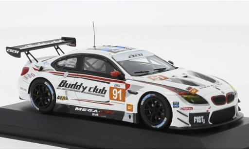 Bmw M6 1/43 Minichamps GT3 No.91 Team AAI Asian Le Mans 2018 J.S.Chen/J.Krohn/C.Mostert miniature