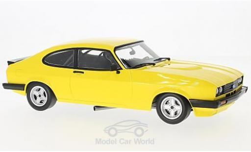 Ford Capri 1/18 Minichamps 3.0 jaune 1978 miniature