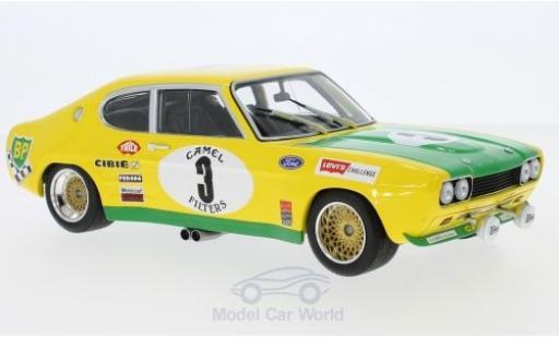 Ford Capri 2600 1/18 Minichamps MK I RS No.3 BP Racing Team BP 24h Spa 1972 G.Birrell/C.Bourgoignie diecast model cars