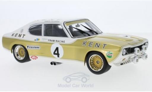 Ford Capri 2600 1/18 Minichamps MK I  2600 No.4 Kent Frami Racing Team Kent 24h Spa 1972 J-C.Franck/K.Fritzinger miniature