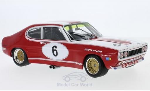 Ford Capri 2600 1/18 Minichamps MKI RS No.6 Grab -Tuning Siegen 6h Nürburgring 1973 K-L.Weiss/K.Ludwig diecast model cars