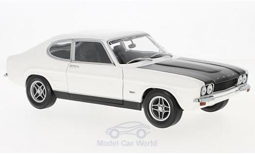 Ford Capri 1/18 Minichamps MKI RS 2600 blanco/negro 1970 miniatura