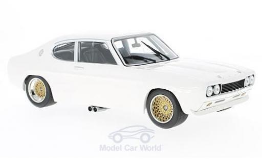 Ford Capri 2600 1/18 Minichamps  2600 blanche 1970 miniature