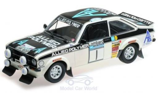 Ford Escort 1/18 Minichamps MK II RS 1800 No.1 Allied Polymer Group Allied Polymer Rallye RAC Lombard 1975 T.Mäkinen/H.Liddon miniature