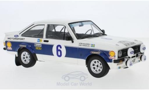 Ford Escort 1/18 Minichamps MK II RS 1800 No.6 Motor Co. LTD Rallye WM Rallye Acropolis 1977 B.Waldegard/H.Thorszelius diecast model cars