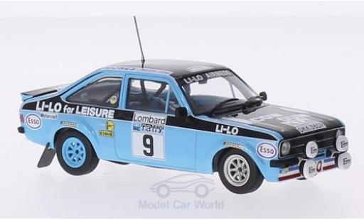 Ford Escort MKI 1/43 Minichamps I RS 1800 RHD No.9 Li-Lo Rallye WM RAC Rallye 1978 R.Clark/N.Wilson miniature