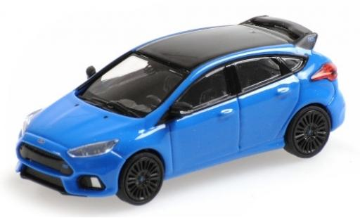 Ford Focus 1/87 Minichamps RS metallise blue/black 2018 diecast model cars