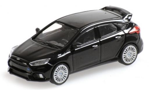 Ford Focus 1/87 Minichamps RS metallise black 2018 diecast model cars