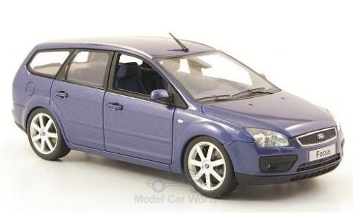 Ford Focus 1/43 Minichamps Turnier métallisé bleue 2006 miniature