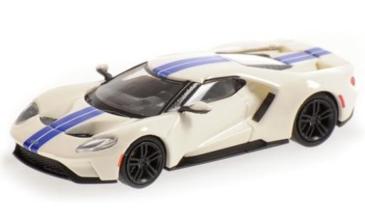 Ford GT 1/87 Minichamps blanche/bleue 2018 miniature