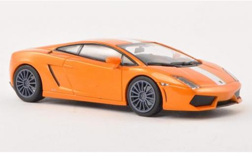 Lamborghini Gallardo 1/43 Minichamps LP550-2 Valentino Balboni metallise orange/white 2009 diecast model cars