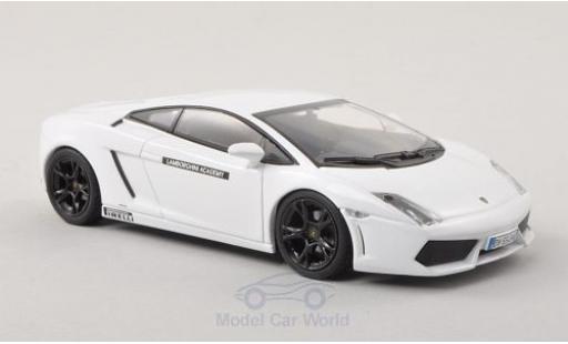 Lamborghini Gallardo LP560-4 1/43 Minichamps blanche Academy 2009 miniature