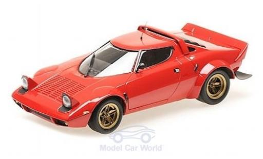Lancia Stratos 1/18 Minichamps rouge 1974 miniature