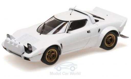 Lancia Stratos 1/18 Minichamps blanche 1974 miniature