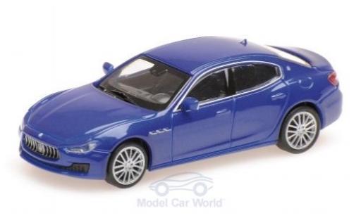 Maserati Ghibli 1/87 Minichamps métallisé bleue 2018 miniature