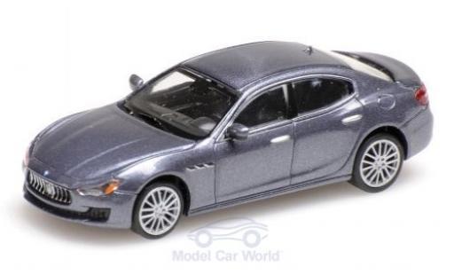Maserati Ghibli 1/87 Minichamps métallisé grise 2018 miniature