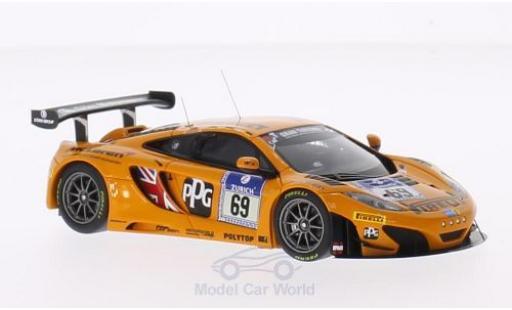 McLaren MP4-12C 1/43 Minichamps 12C GT3 No.69 Doerr Motorsport Pirelli 24h Nürburgring 2014 R.Adams/S.Asch/A.Klasen/A.Parente miniature