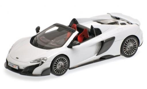 McLaren 675 1/43 Minichamps LT Spider white 2015 diecast model cars