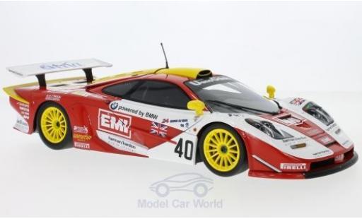 McLaren F1 1/18 Minichamps GTR No.40 Gulf Team Davidoff EMI 24h Le Mans S.O Rourke/T.Sugden/B.Auberlen miniature