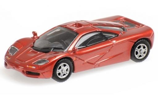 McLaren F1 1/87 Minichamps Roadcar metallise red 1994 diecast model cars