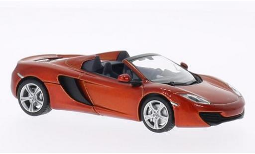 McLaren MP4-12C 1/43 Minichamps Spider metallise orange 2012 miniature