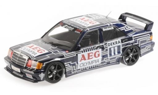 Mercedes 190 1/18 Minichamps E 2.5-16 EVO 1 No.11 Team Snobeck- AEG Olympia DTM 1989 D.Snobeck modellino in miniatura