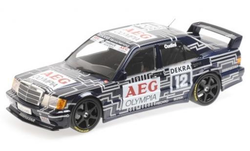 Mercedes 190 1/18 Minichamps E 2.5-16 EVO 1 No.12 Team Snobeck- AEG Olympia DTM 1989 A.Cudini modellino in miniatura