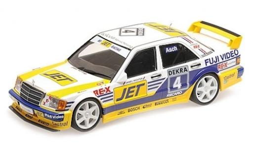 Mercedes 190 1/18 Minichamps E 2.5-16 Evo 1 (W201) No.4 Team MS-JET Jet DTM 1989 R.Asch miniature