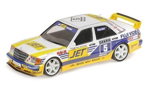 Mercedes 190 1/18 Minichamps E 2.5-16 Evo 1 (W201) No.5 Team MS-JET Jet DTM 1989 M.Reuter diecast