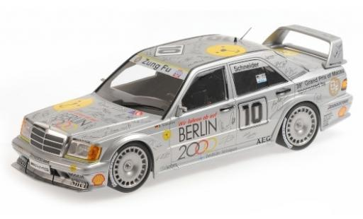 Mercedes 190 1/18 Minichamps E 2.5-16 EVO 2 No.10 Zung Fu Berlin 2000 Macau Guia Race 1992 B.Schneider modellino in miniatura