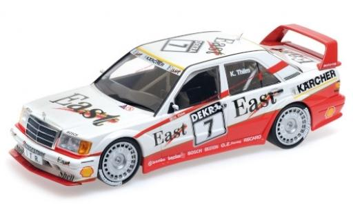 Mercedes 190 1/18 Minichamps E 2.5-16 Evo 2 No.7 Team AMG East DTM 1991 K.Thiim diecast model cars