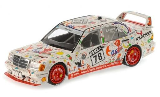 Mercedes 190 1/18 Minichamps E 2.5-16 EVO 2 No.78 Team AMG-West Andora DTM 1989 E.Lohr miniature