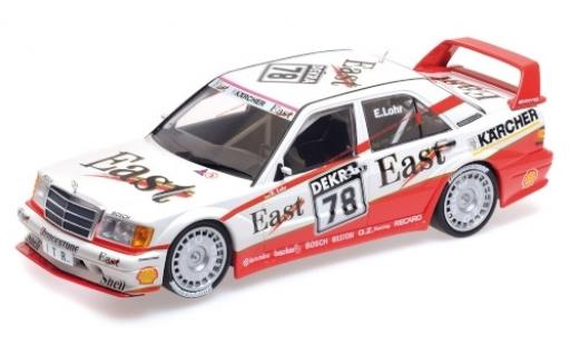 Mercedes 190 1/18 Minichamps E 2.5-16 Evo 2 No.78 Team MS - AMG East DTM 1991 E.Lohr coche miniatura